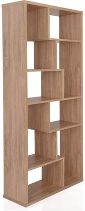 """Acme Furniture Mileta II Collection 32"""" Bookshelf with 6 Wooden Shelves, 8 Staggered Cubes, Open Back Panel, Wood Veneer Frame and Engineered Wood Construction in"""