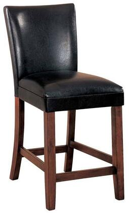 "Coaster Telegraph 39.5"" Counter Height Bar Stools with Cherry Finish Tapered Legs and Leatherette Upholstery in"