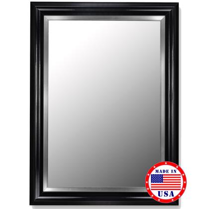 Hitchcock Butterfield 20850X Cameo Grande Mirror in Glossy Black with Stainless Liner