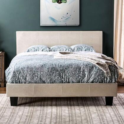 Furniture of America CM7793WHEKBED Wallen Series  King Size Panel Bed
