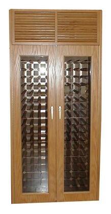 Vinotemp VINO-440TDGFE Two Door Oak Wine Cooler Cabinet with Front Exhaust,