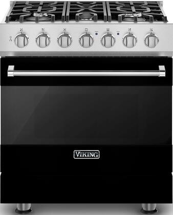 "Viking RVDR33025BxLP 30"" 3 Series Dual Fuel Liquid Propane Range with 5 Permanently Sealed Burners, 4.7 cu. ft. Oven Capacity, Vari-Speed Dual Flow Convection Oven, SureSpark Ignition System, and 3 Oven Racks, in"
