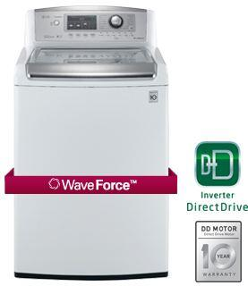 LG WT5170HW Wave Series 4.7 cu. ft. Top Load Washer, in White