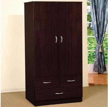 "Acme Furniture Yorktown Collection 02241 32"" Wardrobe with 2 Doors, 3 Drawers, Metal Hardware and Paper Veneer Materials in"