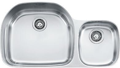 "Franke PCX1200 Prestige Classic 36"" Undermount Double Bowl Sink in Stainless Steel"