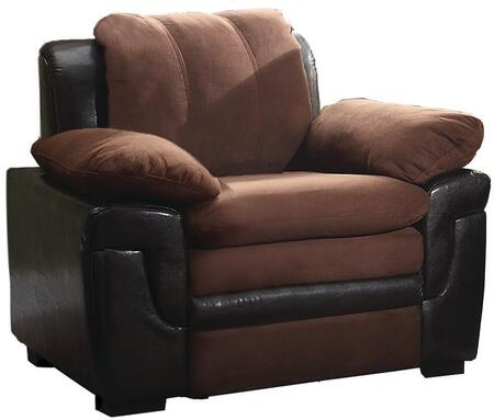"Glory Furniture 40"" Armchair with Removable Backs, Wood Frame, Microfiber and Faux Leather Upholstery"
