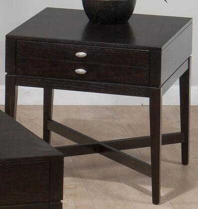Jofran 9343 Transitional Square 1 Drawers End Table