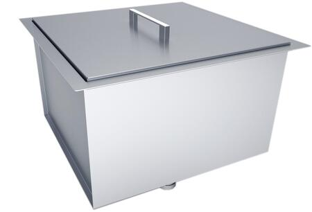 Sunstone B-SK Over/Under Single Basin Sink with Cover in Stainless Steel