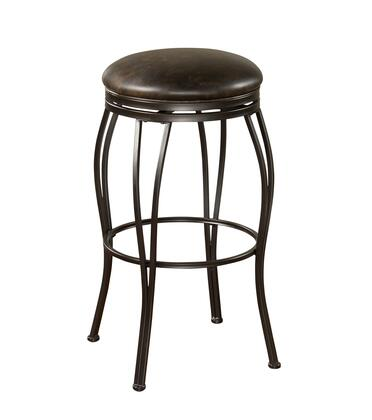 American Heritage Romano Series 1XX941CC Transitional Backless Stool with Full Swivel and Floor Glides Finished in Coco with Tobacco Bonded Leather