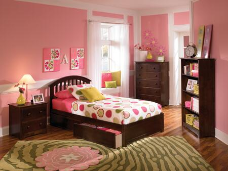 Atlantic Furniture SRICHMONDFPFTWINAW Richmond Series  Twin Size Bed