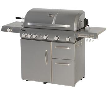 Aussie 68R5A9SSS1 Freestanding Grill, in Stainless Steel
