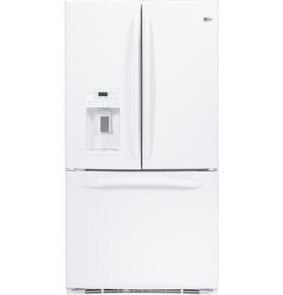 GE PFCF1RKZWW  Counter Depth French Door Refrigerator with 21.0 cu. ft. Total Capacity 6 Glass Shelves