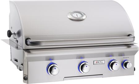 "American Outdoor Grill 30NBL 30"" Built-In Natural Gas Grill with 540 sq. in. Grilling Surface, 45000 BTU Total Main Burner Output, Warming Rack, and Drip Tray, in Stainless Steel"