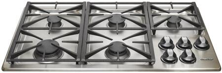 Dacor RGC365SNGH Renaissance Series Natural Gas Sealed Burner Style Cooktop