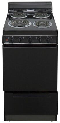 """Premier EAKL00  20"""" Freestanding Electric Range with 2.4 Cu. Ft. Capacity, One 8"""" Coil Element, Three 6"""" Elements, 4"""" Porcelain Backguard, Storage Drawer, Surface Signal Light and Lift Top with Support Rod"""