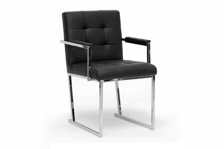 Wholesale Interiors ALC1128Black Collins Series  Accent Chair