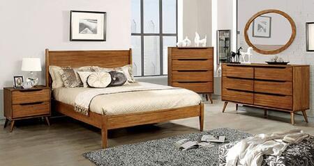 Furniture of America CM7386AEKBEDSET Lennart King Bedroom Se