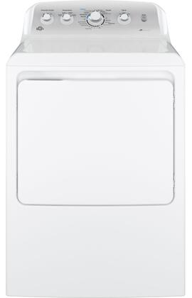 "GE GTD45xASJWS 27"" Front Load Dryer with 7.2 cu. ft. Capacity, 4 Dry Cycles and Heat Selections, HE Sensor Dry, Extended Tumble and End-of-Cycle Signal, in White"