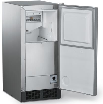 "Scotsman DCE331SSD 15"" Ice Machine with 30 lbs. Daily Ice Production, 26 lbs. Storage Capacity, Clear Odorless Ice, and Auto Shut-off, in Panel Ready"