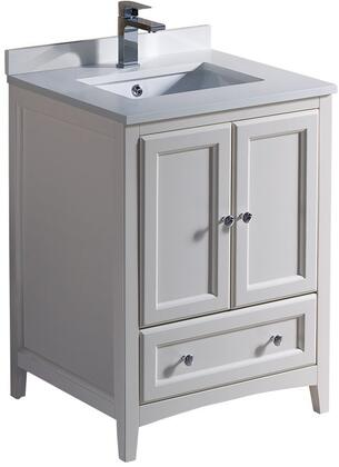"Fresca FCB2024XXCWHU Oxford 24"" Traditional Sink Vanity with Top and Sink in"