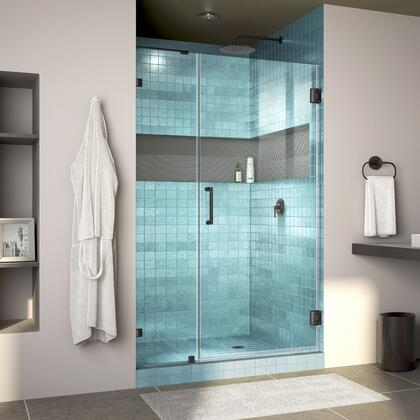 Unidoor Lux Shower Door RS30 30D 14IP 09 Blue Tile