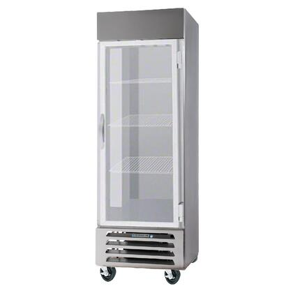 """Beverage-Air FB23-1 24"""" Vista Series One Section [Solid Door] Reach-In Freezer, 23 cu.ft. Capacity, Stainless Steel Front, Robust Gray Painted Exterior Sides, Aluminum Interior, with Bottom Mounted Compressor"""