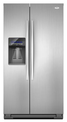 Whirlpool WSF26C2EXA  Side by Side Refrigerator with 26.4 cu. ft. Capacity in Monochromatic Satina