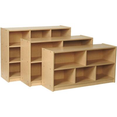 Mahar M50800 3 Compartments Single Sided Storage Unit in Maple Finish with Edge Color