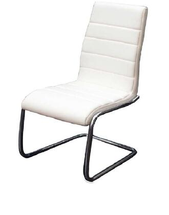 Casabianca CBF3136W Avenue Series Modern Faux Leather Metal Frame Dining Room Chair