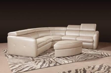 Novo Home 20154PC Avante Series Curved Leather Sofa