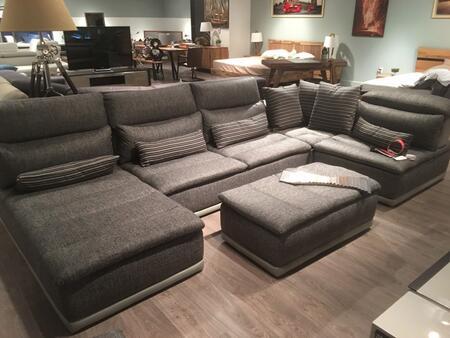 Vig Furniture David Ferrari Panorama Fabric Sectional Sofa
