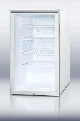 Summit SCR450LBIHHADA  Compact Refrigerator with 4.1 cu. ft. Capacity in Stainless Steel