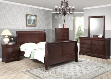 Yuan Tai 6702QCHSET Louis Philippe Queen Bedroom Sets