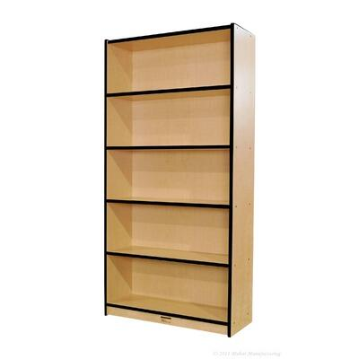 "Mahar M72DCASE 72"" Double Sided Book Case in Maple Finish with Edge Color"