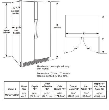 Maytag Msc21c6mdm 36 Inch Counter Depth Side By Side