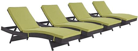 "Modway EEI2429EXPPERSET 110"" Water Resistant Lounge Chair"