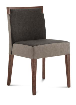 Domitalia ARIELS0K0NCFTD1 Ariel Series Contemporary Fabric Wood Frame Dining Room Chair