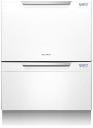 "Fisher Paykel DD24DCW7 24"" DishDrawer Series Drawers Semi-Integrated Dishwasher"