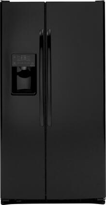 GE DSHF6VGBBB  Side by Side Refrigerator with 25.9 cu. ft. Capacity in Black
