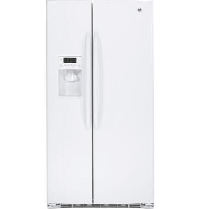 GE GSHF6LGB 25.9 Cu. Ft. Capacity Side-by-Side Refrigerator, External Ice and Water Dispenser, External Electronic Temperature Controls, Energy Star Rated:
