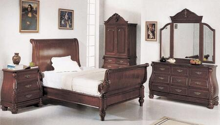 Yuan Tai 7021Q Sierra Series  Queen Size Sleigh Bed
