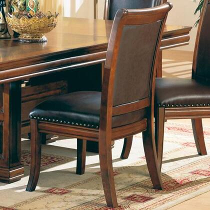 Coaster 3636 Westminster Series Traditional Leather Wood Frame Dining Room Chair