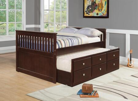Donco 303FCP  Full Size Captains Bed