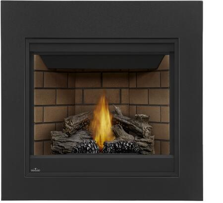 "Napoleon Ascent Series B35N 35"" Direct Vent Natural Gas Fireplace with Electronic Ignition or Millivolt Ignition, Up to 20,000 BTU's, Pan Style Burner, Standard Safety Barrier, PHAZER Log Set, Back-Up Control System and Tempered Heat Resistant Glass"