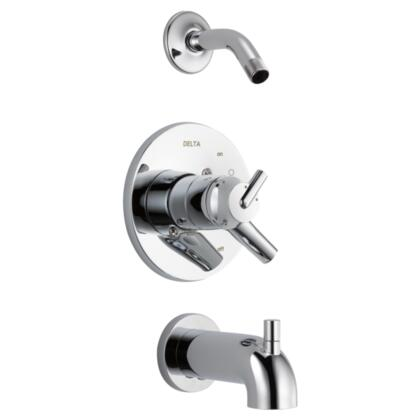 Trinsic T17459-LHD Delta Trinsic: Monitor 17 Series Tub and Shower Trim - Less Shower Head in Chrome
