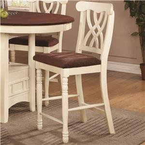 Coaster 102239 Addison Series Casual Wood Frame Dining Room Chair