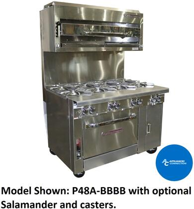 "Southbend P48D Platinum Series 48"" Sectional Open-Top Range with Standard Oven Base and Eight Standard Non-Clogging Burners, Up to 280000 BTUs (NG/LP)"