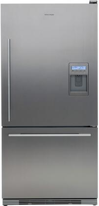 Fisher Paykel RF175WDRUX1 Active Smart Series Counter Depth Bottom Freezer Refrigerator with 17.5 cu. ft. Total Capacity 5.1 cu. ft. Freezer Capacity 2 Glass Shelves