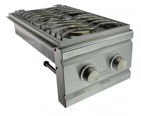 RCS RDB Stainless Steel Double Side Burner, Up to 24000 BTUs