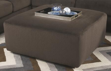 Milo Italia MI-9813ATMP Kianna Oversized Accent Ottoman with Plush Cushion Top, Small Feet and Fabric Upholstery in